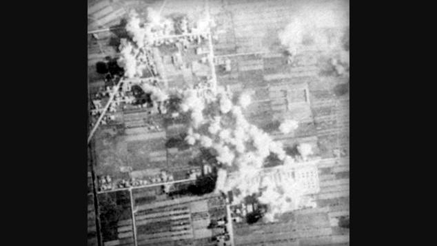 Foto alleate dell'incursione su Bologna, operazione Pancake.