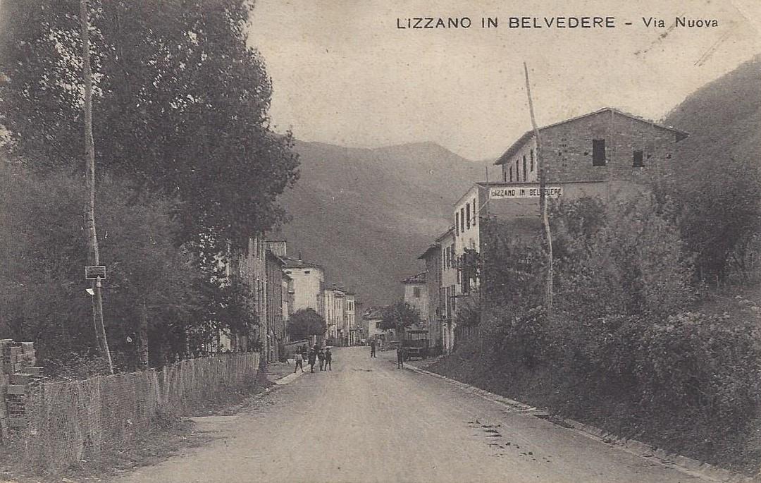 Lizzano in Belvedere- Via Nuova -anni '30/'40.