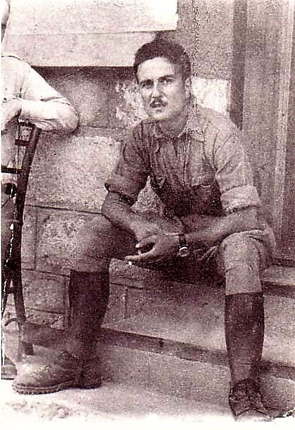 Libero Lossanti in una foto in Yugoslavia dove prestava servizio militare nel 1943 Foto donata dal CIDRA di Imola. https://www.storiaememoriadibologna.it/