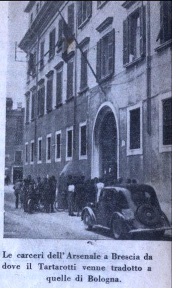 Le carceri dell'Arsenale a Brescia, da dove Tartarotti venne tradotto a quelle di Bologna.