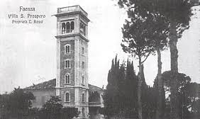 Villa San Prospero, Faenza, in un'immagine dell'epoca.