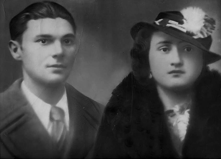 La foto del matrimonio di Lino Panzarini con Norma Bucchignoli del 30 novembre 1935